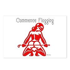 Commence Flogging Postcards (Package of 8)