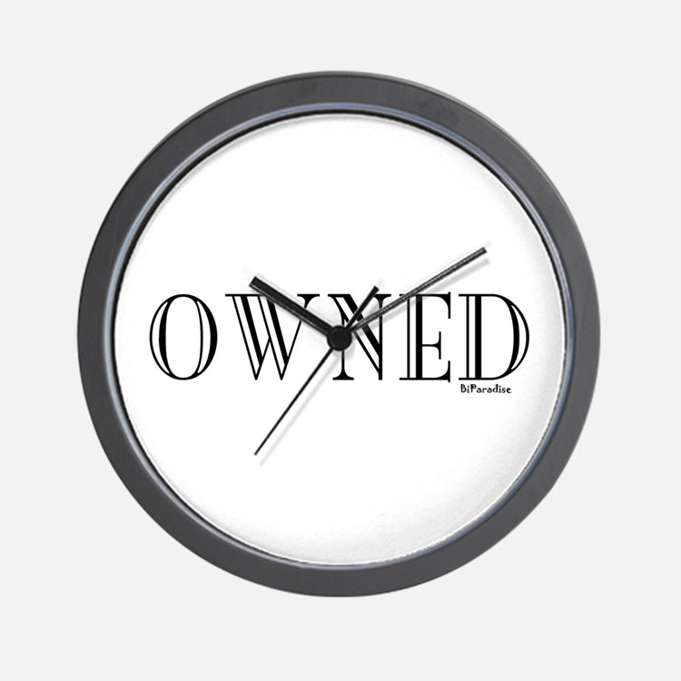 OWNED Wall Clock