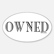 OWNED Oval Decal