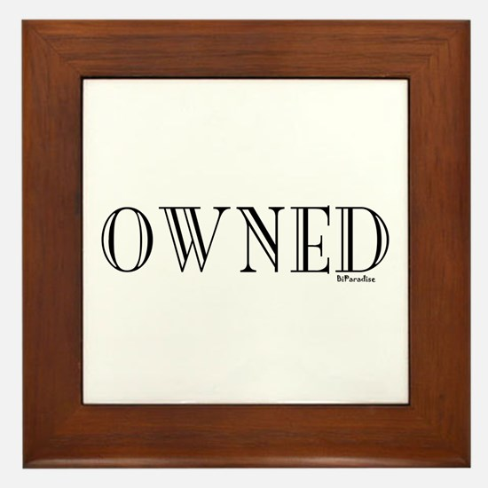 OWNED Framed Tile