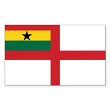 Ghana Naval Ensign Rectangle Decal