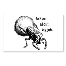 Ask Me About My Job Rectangle Decal