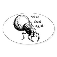 Ask Me About My Job Oval Stickers