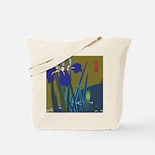 Lavender Iris Japanese Design Tote Bag