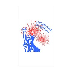 ILY Freedom Liberty Rectangle Sticker 50 pk)