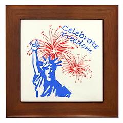 ILY Freedom Liberty Framed Tile