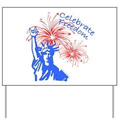 ILY Freedom Liberty Yard Sign