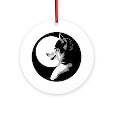 Siberian Husky Sled Dog Ornament (Round)