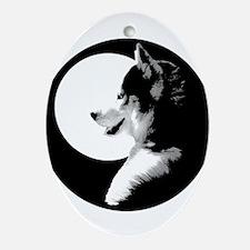 Siberian Husky Sled Dog Ornament (Oval)