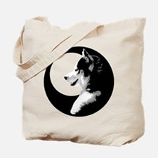 Siberian Husky Sled Dog Tote Bag