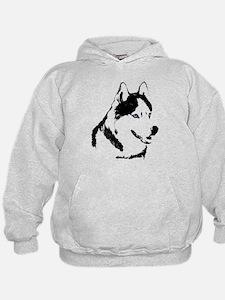 Siberian Husky Sled Dog Hoody