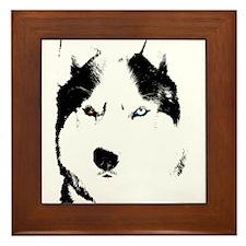 Siberian Husky Sled Dog Framed Tile
