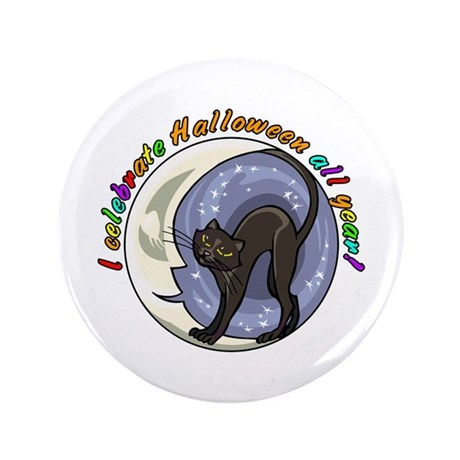 """I Celebrate Halloween 3.5"""" Button (100 pack)"""