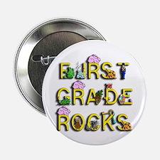 """First Grade Rocks 2.25"""" Button"""