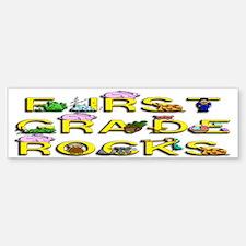 First Grade Rocks Bumper Bumper Bumper Sticker