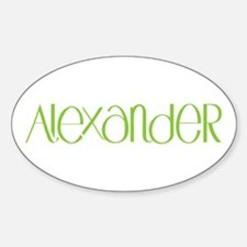 Alexander lime Oval Decal