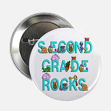 "Second Grade Rocks 2.25"" Button"