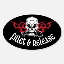 Fillet & Release Oval Decal