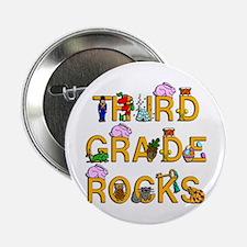 "Third Grade Rocks 2.25"" Button"