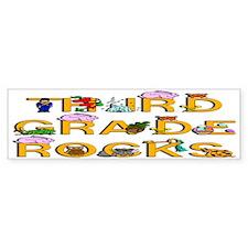 Third Grade Rocks Bumper Bumper Sticker