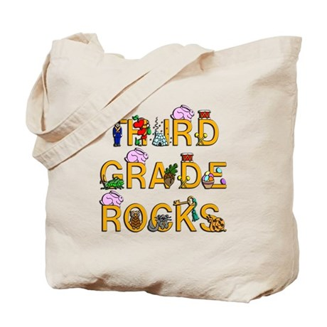Third Grade Rocks Tote Bag