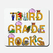 Third Grade Rocks Mousepad