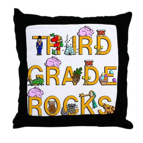 Third Grade Rocks Throw Pillow