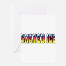 Shaved Ice Greeting Card