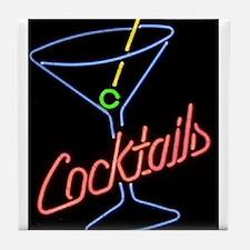 Cocktails Tile Coaster