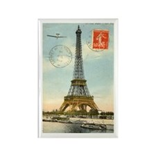 Vintage Eiffel Tower Rectangle Magnet
