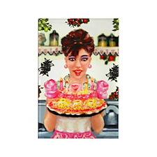Vintage Happy Birthday Rectangle Magnet