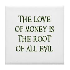 Love of Money Tile Coaster