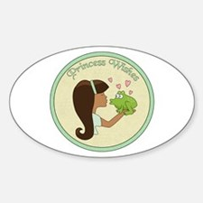 Princess Wishes Oval Decal