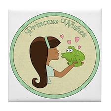 Princess Wishes Tile Coaster