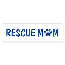 Rescue Mom Bumper Car Sticker