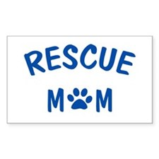 Rescue Mom Rectangle Decal