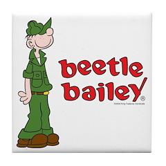 Beetle Bailey Logo Tile Coaster