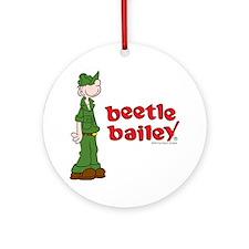 Beetle Bailey Logo Ornament (Round)