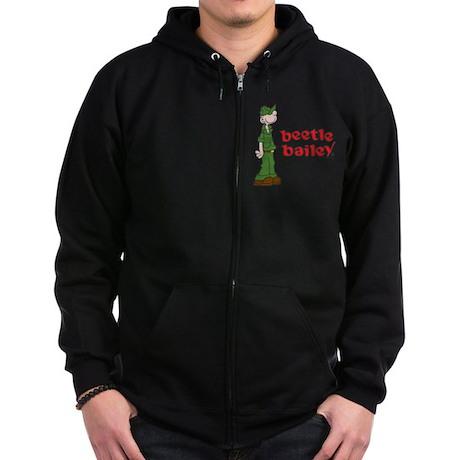 Beetle Bailey Logo Zip Hoodie (dark)