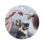 Creation-G-Shep (15) Ornament (Round)