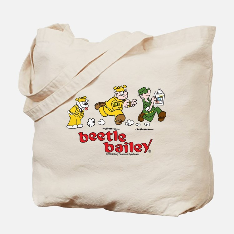 Otto, Sarge, and Beetle Chase Tote Bag