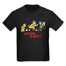 Otto, Sarge, and Beetle Chase Kids Dark T-Shirt