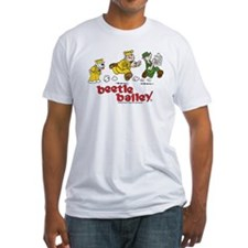 Otto, Sarge, and Beetle Chase Fitted T-Shirt