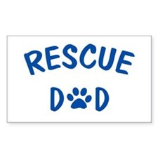 Rescue Dad Rectangle Decal