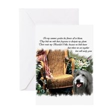 Bearded Collie Art Greeting Card