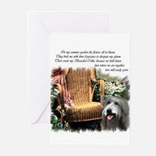 Bearded Collie Art Greeting Cards (Pk of 20)
