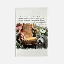 Bearded Collie Art Rectangle Magnet (10 pack)