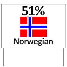 51% Norwegian Yard Sign