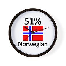 51% Norwegian Wall Clock