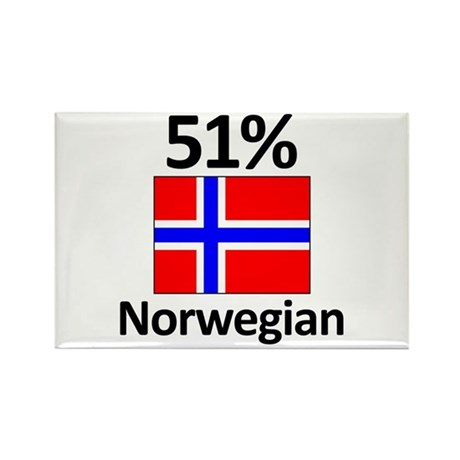 51% Norwegian Rectangle Magnet